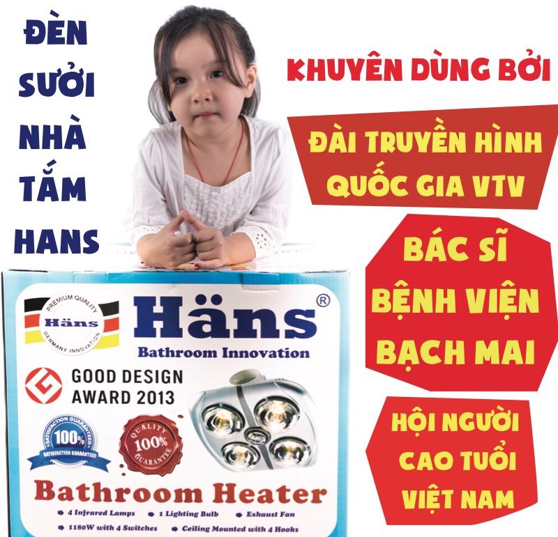 Đèn sưởi nhà tắm hồng ngoại được bác sĩ chuyên gia hàng đầu bệnh viện Bạch Mai khuyên dùng