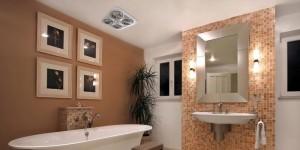 Đèn sưởi nhà tắm thiết kế đẹp và hợp với nhiều không gian nhà tắm