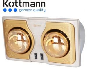 Đèn sưởi nhà tắm kottmann vàng new 2015