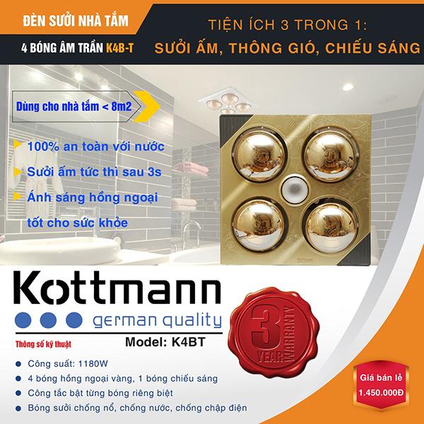 Đèn sưởi nhà tắm Kottmann K4bt