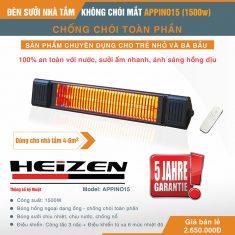 Đèn sưởi nhà tắm Heizen Appino 15
